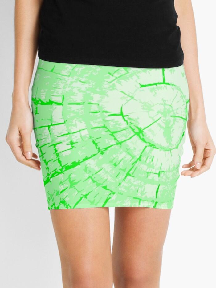 Wood Green Tie-Dye Rings | Mini Skirt