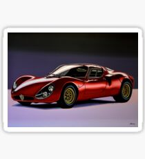 Alfa Romeo 33 Stradale Painting Sticker & Dihedral Doors: Stickers | Redbubble