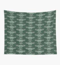 Green Moths Wall Tapestry