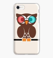 Owl 3D Glasses iPhone Case/Skin