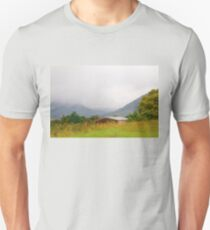 A Dreich Day in the Highlands (Inverness-shire, On the A9, Scotland, UK.) Unisex T-Shirt