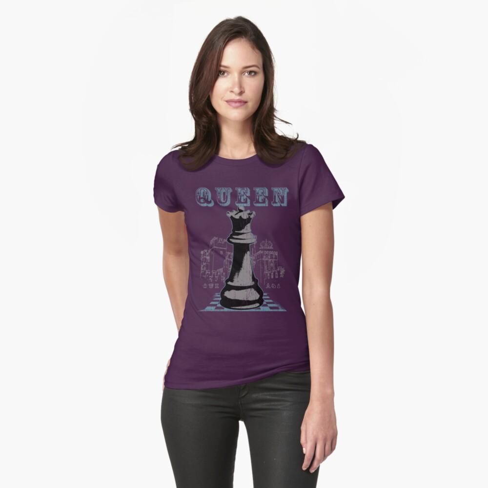 Chess Mate: Black Queen Womens T-Shirt Front