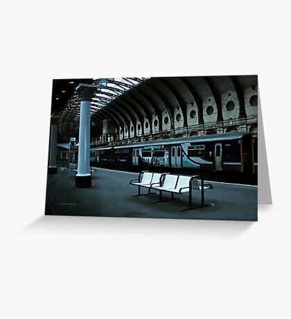 Last Train to the Past (York, England, UK.) Greeting Card