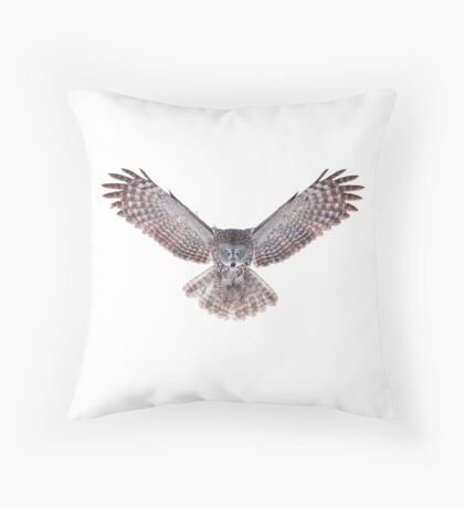 Power - Great Grey Owl Throw Pillow