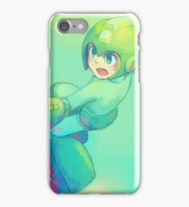 Teal Mega Man iPhone Case/Skin