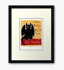 Dragon Noir Framed Print