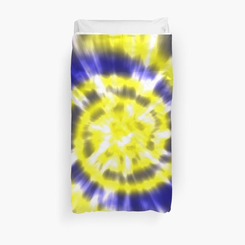 Tie Dye - Gelb und Blau Bettbezug