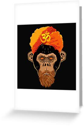 Stoned monkey greeting cards by vaibhavdhamecha redbubble stoned monkey m4hsunfo