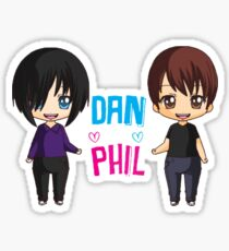 Dan and Phil  cute chibi style <3 Sticker