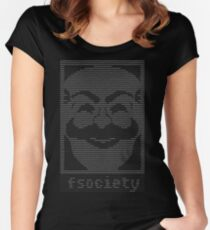 mr. robot - f.society.dat Women's Fitted Scoop T-Shirt