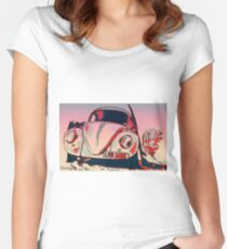Retro bug Women's Fitted Scoop T-Shirt