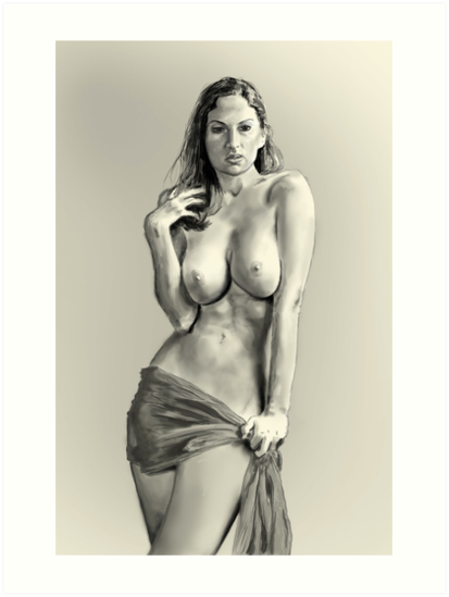 Nude Figure Study by Dean Harkness