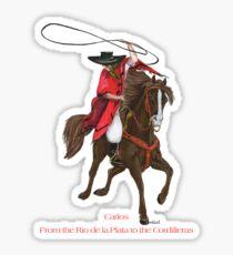 Carlos and Gaucho by tasmanianartist for Karl May Friends Sticker