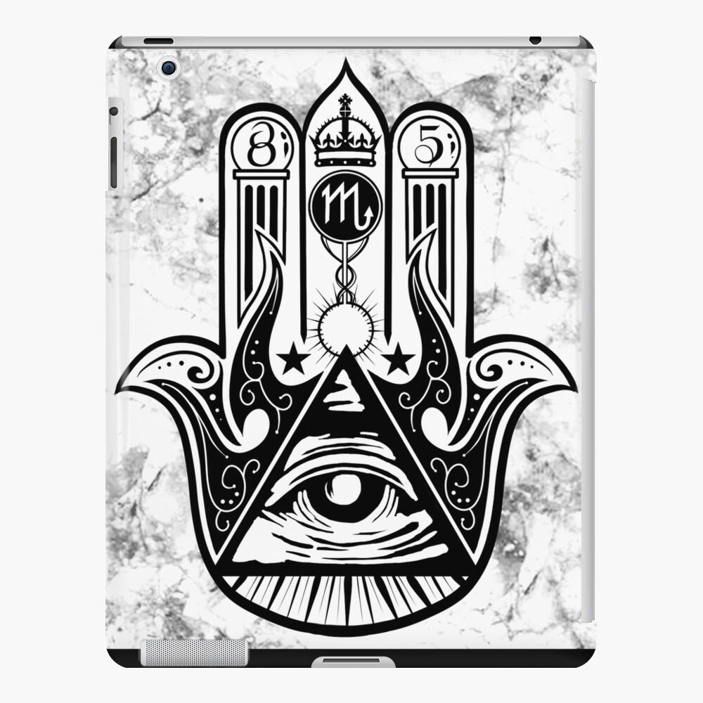 Mano de Illuminati Funda y vinilo para iPad