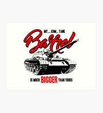 World of Tanks inspired work Art Print
