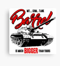World of Tanks inspired work Canvas Print