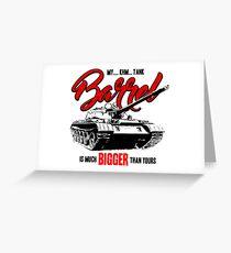World of Tanks inspired work Greeting Card