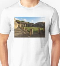 Herculaneum Ruins - Quiet Long Shadows Courtyard T-Shirt