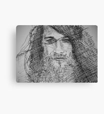 Ink Portrait Canvas Print