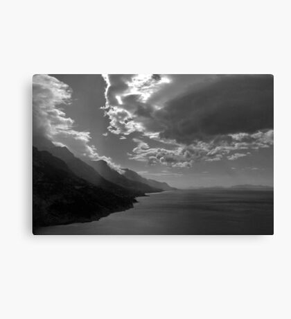 Dark clouds  on the Dalmation coast Canvas Print