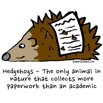 Hedgehog academic by ErrantScience