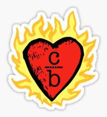 clothes over bros heart logo Sticker