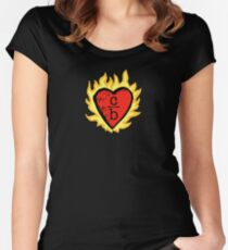 Kleidung über Bros Herz Logo Tailliertes Rundhals-Shirt