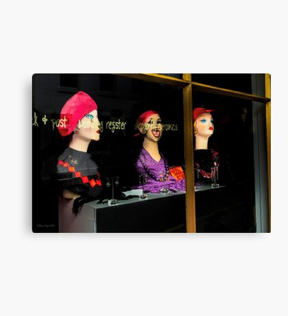 The Red Hat Brigade? Canvas Print