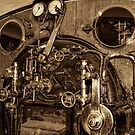 The Driver's View. Sepia. by Colin Metcalf