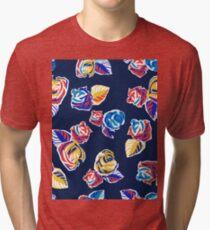 Bright Flowers Pattern Tri-blend T-Shirt