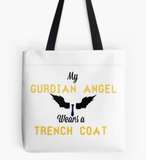 SUPERNATURAL-Castiel-My Guardian Angel Wears a Trench Coat Tote Bag