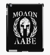 molon labe 1 iPad Case/Skin