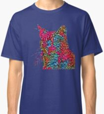 Artificial neural style Rose wild cat Classic T-Shirt