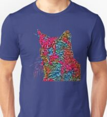 Artificial neural style Rose wild cat Slim Fit T-Shirt