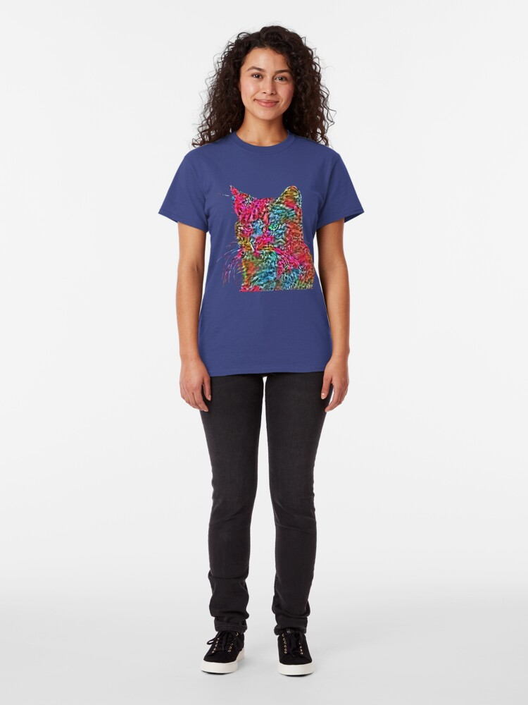 Alternate view of Artificial neural style Rose wild cat Classic T-Shirt