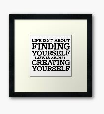 George Carlin Quote Motivational Inspirational Life Framed Print