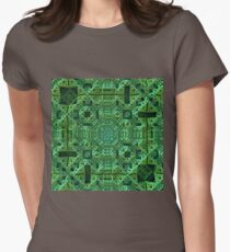 Intricately, Green Womens Fitted T-Shirt