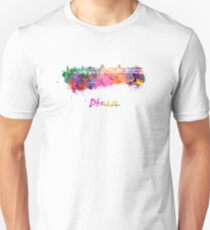 Dhaka skyline in watercolor Unisex T-Shirt