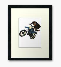 Monkey on a Dirt Bike Framed Print
