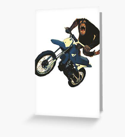 Monkey on a Dirt Bike Greeting Card
