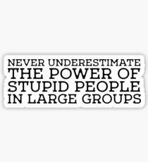 Stupid People Cool Quote Power Freedom idiots Sticker
