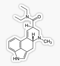 LSD Molecule Sticker