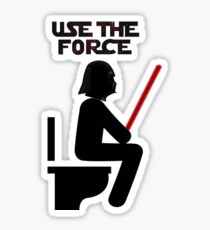Use the Force - constipated Sticker