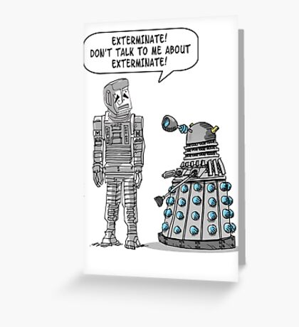 Dalek Adams 2 Greeting Card