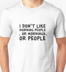 Funny Morning People Coffee Humour  T-Shirt