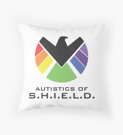 Autistics of S.H.I.E.L.D. (for light backgrounds) Throw Pillow