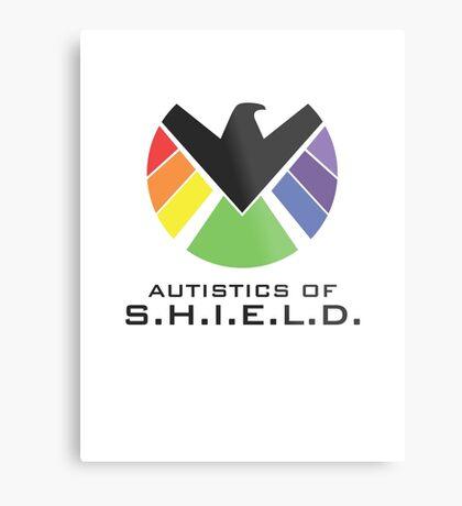 Autistics of S.H.I.E.L.D. (for light backgrounds) Metal Print