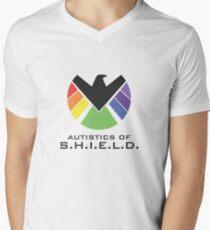 Autistics of S.H.I.E.L.D. (for light backgrounds) Men's V-Neck T-Shirt