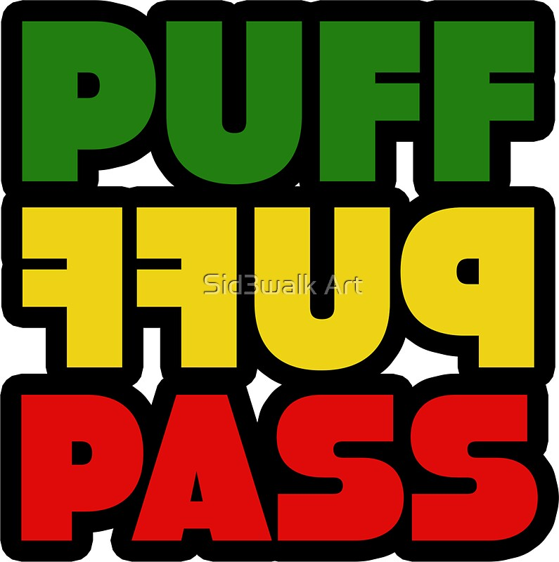 Weed stoner puff puff pass pot funny cool rasta jamaica by sid3walk art