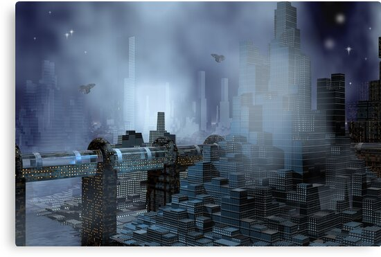 Futuristic City of Tomorrow by Carol and Mike Werner